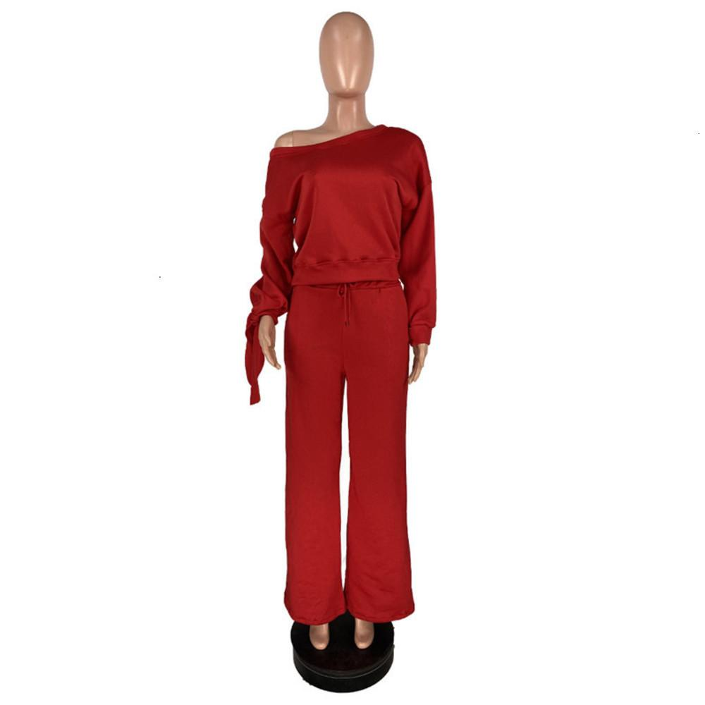 (Plus Size Tracksuits Women long sleeve clothing bow hoodie wide leg pants sweatsuit solid color fall winter jogging suits sportswear 3834