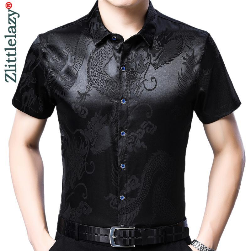 Designer anime mens camisas para homens roupas coreano moda verão camisa de manga curta vestido de luxo roupas casuais jersey 452 homens
