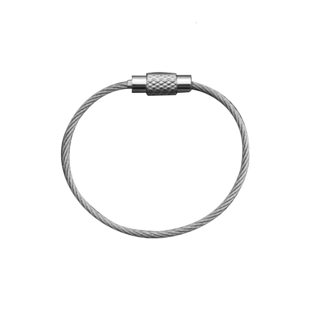 Keychains 10 PZ EDC Hang String Tag Vi vie Bagage Key Bague Kit Bushcraft Kit Lo Gaet Steel Cable Tool