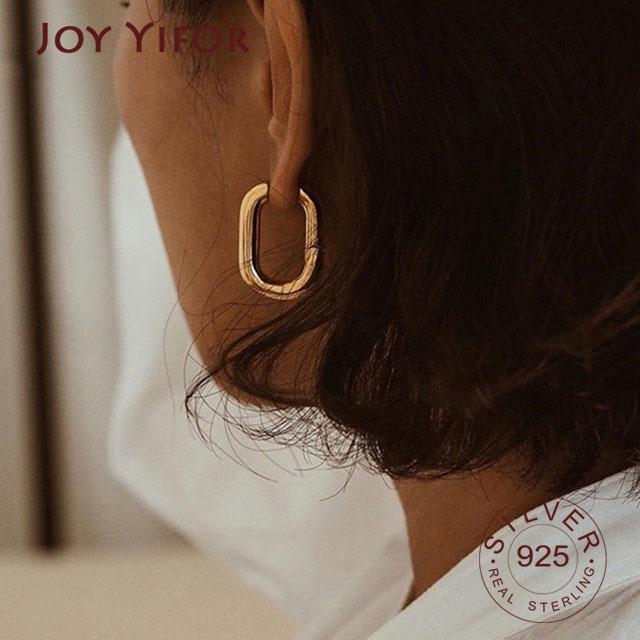 Prevenir Allergy 925 Pendientes de plata esterlina Charm Mujeres Joyería de moda Vintage Simple O Fiesta Accesorios Accesorios Regalos Stud