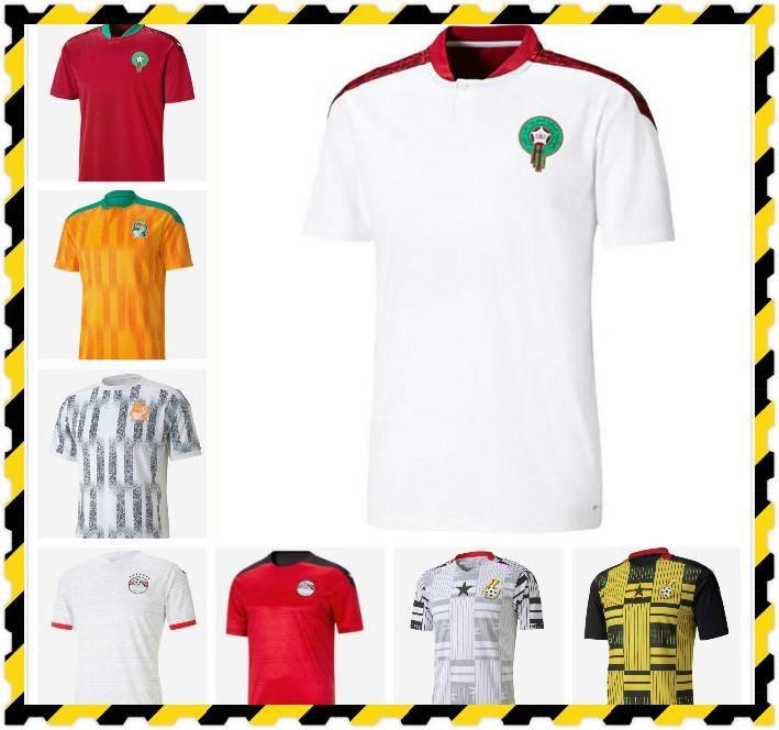 20-21 Egipto M.Salah 10 Salah Costa de Marfil Ghana Marruecos Jerseys 20 21 Jersey Top Top Football Shirts