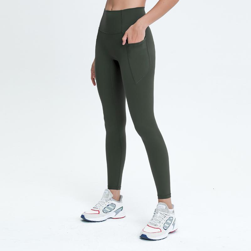 Nepoagym Lovelife Frauen Yoga Leggings In voller Länge mit Seitentaschen Hohe Taille Buttery Soft Yoga Hose 28 Zoll