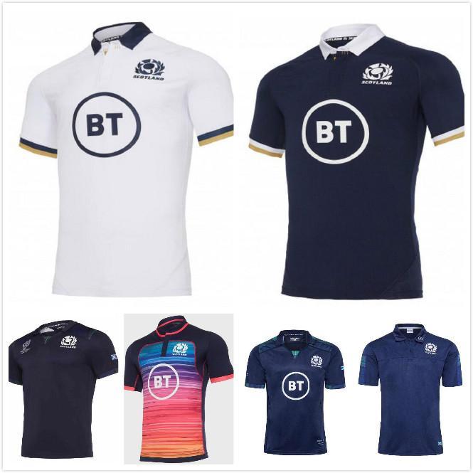 2021 Scotland Rugby Jerseys 20 21 Home Away Walish Herren Größe S-5XL Scottish Shirt MAILTOT CAMISeta Maglien Hohe Qualität