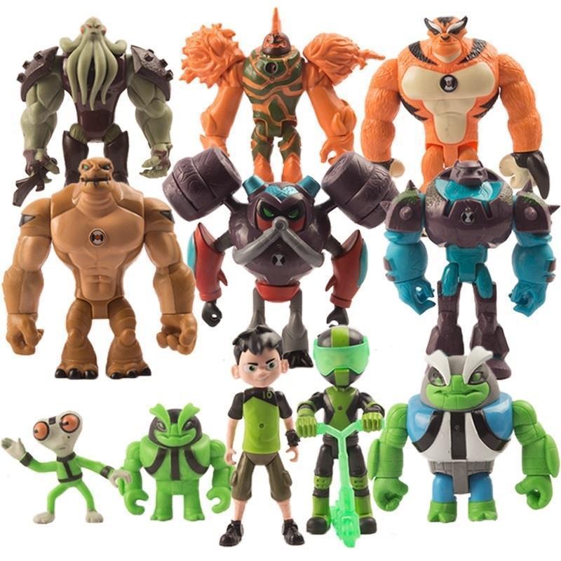 Mini Ben 10 Figuras Lindo Ben 10 Protector del personaje de la Tierra Modelo Decoración de la habitación 11 PCS por SET Q0422