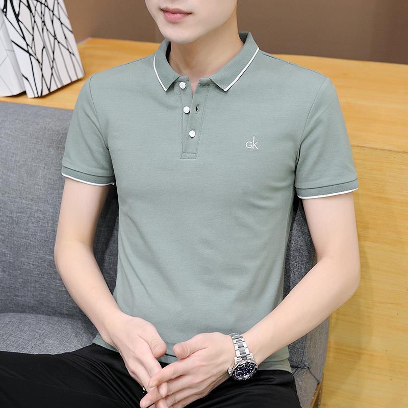 Polo 2021 Koreanischer Sommer dünn Jugend Kurzarm T-shirt Männer Freizeit Tägliche Arbeitshemd