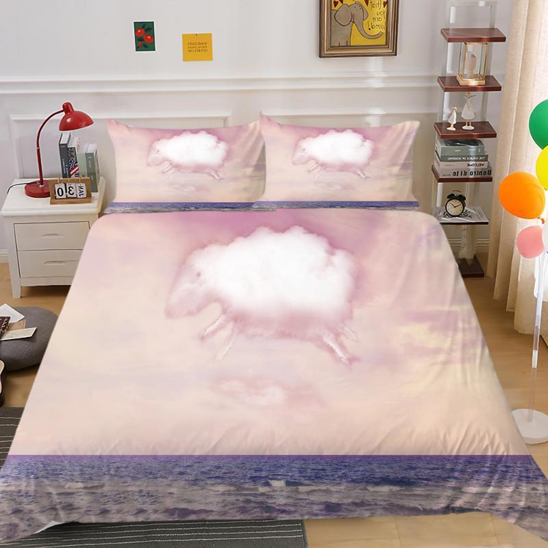 Bettwäsche-Sets Hohe Qualität Bettabdeckung Set voller Größe Königin Single Tier Image Duvet Einzigartige Design Home Deco Casseger Bettdecke
