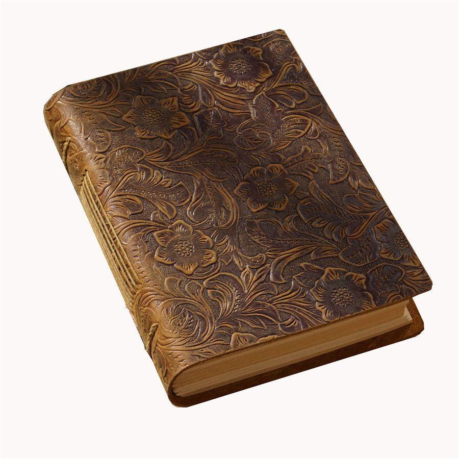 소박한 수제 노트북 빈티지 가죽 바인딩 된 저널 메모장 크래프트 빈 종이 400 페이지 스케치 북 원래 책 KDJK2104