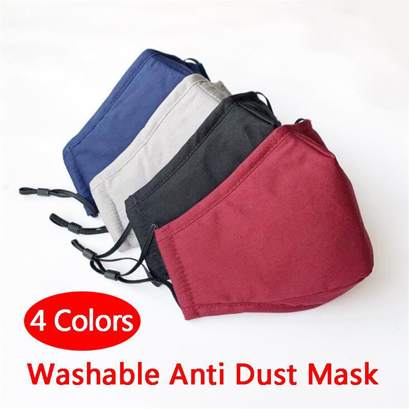 빨 수있는 면직물 PM2.5 안티 헤이즈 안티 먼지 페이스 마스크 Dusproof 부직포 직물 성인용 따뜻한 사이클링 마스크