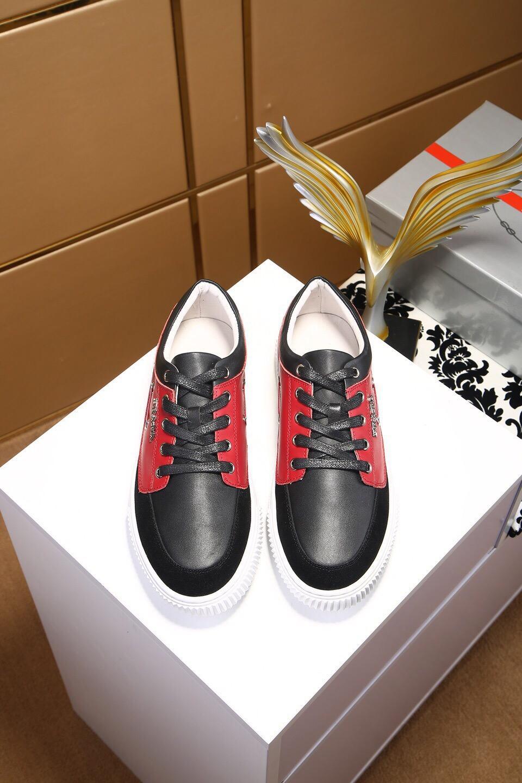 2021 Top Qualität Herren Womens Leder Freizeitschuhe Sneakers Lace Up Comfort Hübsche Herren Trainer Täglich Lifestyle Skateboarding Schuhgröße 39-44