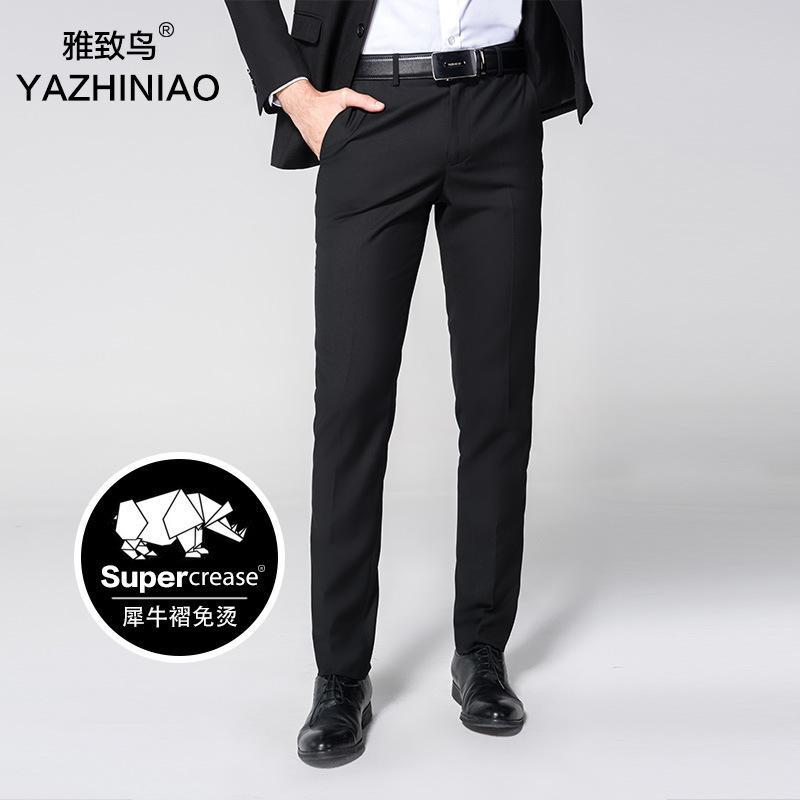 Calças de homem alto, montagem magro, ferramental, novas calças para o trabalho profissional de trabalho