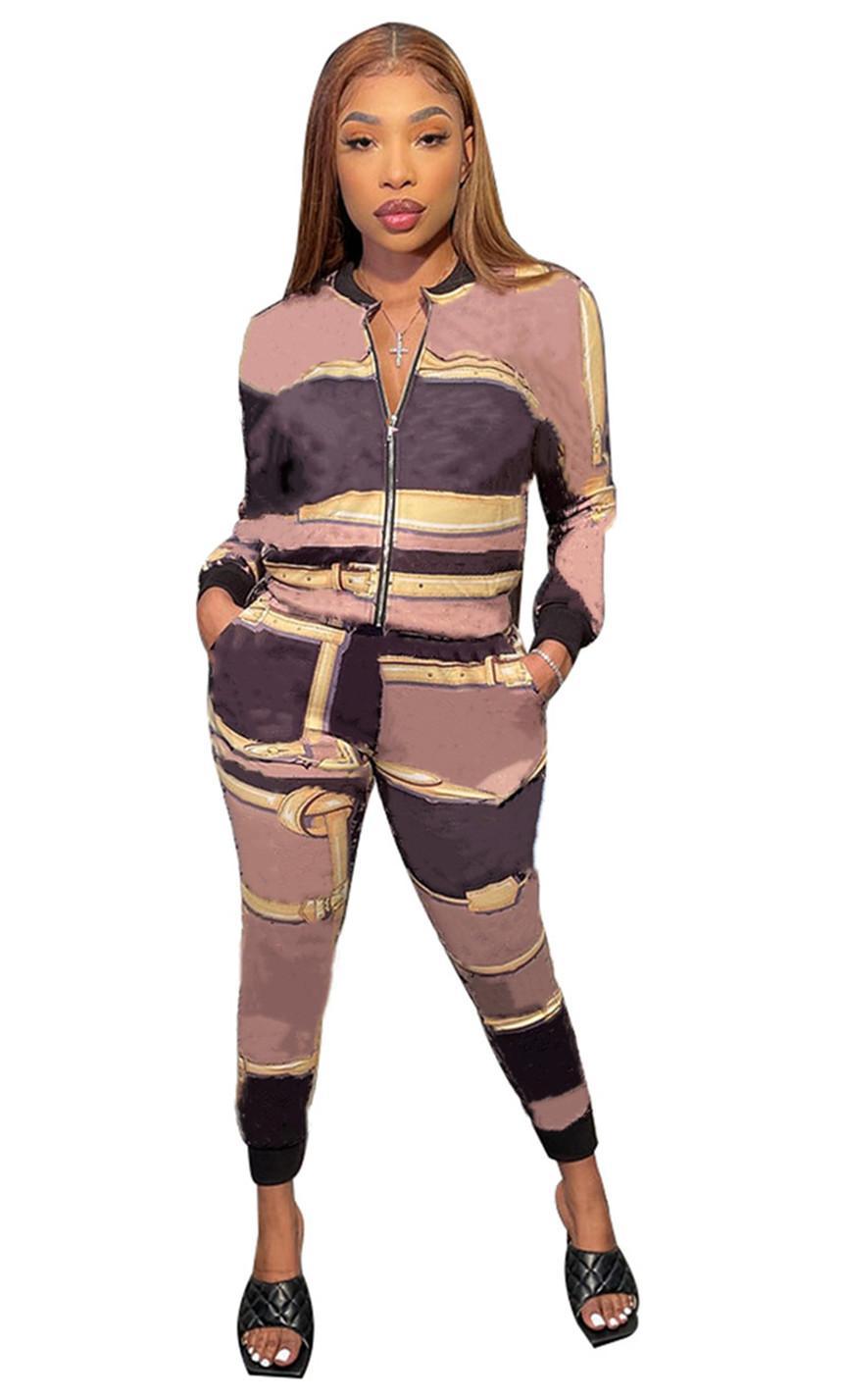 Plus Size S-2XL Womens Casual Trainingsanzüge Weibliche Outfits Brief Sweatsheilkunde Jacke Zwei Teile Sets Sommer Kleidung Sport Jogger Anzug Mantel + Leggings 4752