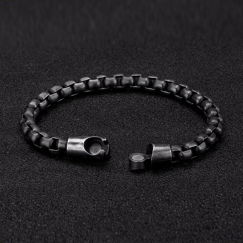 Stainless Steel Bracelet Men Vintage Hand Chain Punk Motorcycle Accessories Man Jewelry Retro Metal Charm Bracelets Friends Gift