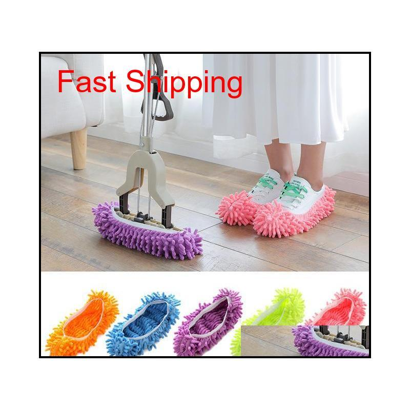 Sponges Scouring Pads Household Tools Housekeeping Organization Home & Garden Drop Delivery 2021 Wholesale Slippers Mopping Shoe Multifunctio