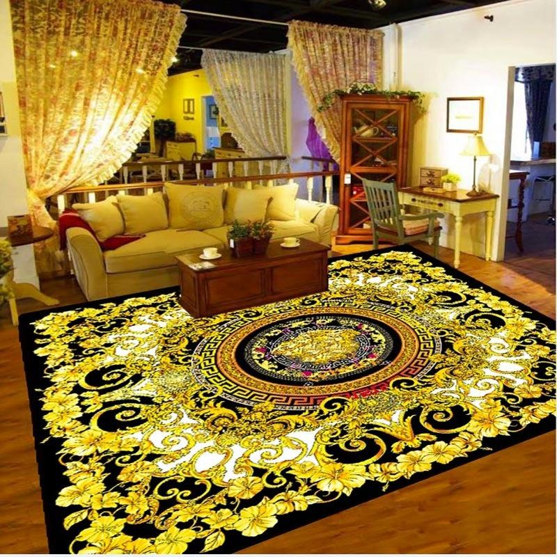 3D printed flannel European-style floor carpet living room bedroom home decorative pad environmental protection 623