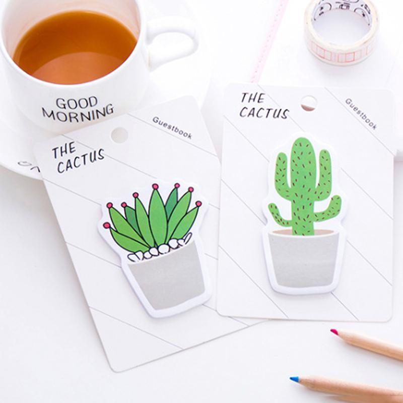 Kaktus Memo Pad Klebrige Hinweis Aufkleber Memo Buch Hinweis Papier N Sticker Schreibwaren Büro Zubehör Schulbedarf
