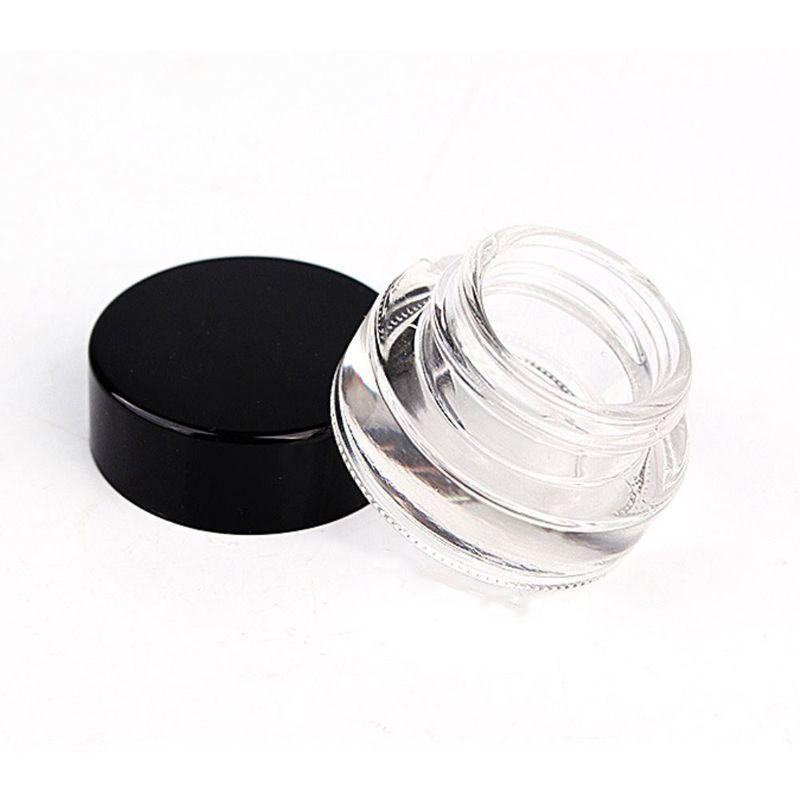 Bottiglia di imballaggio a cera 3G Clear cubo di vetro barattolo dab contenitore concentrato con cappuccio nero