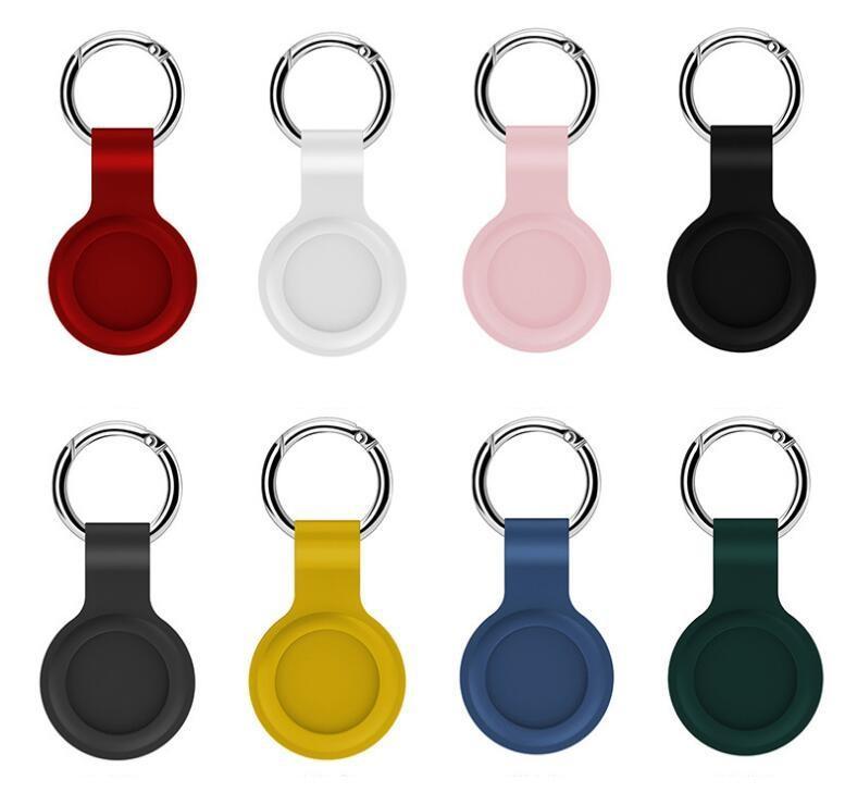 12 ألوان أحدث ناعمة سيليكون مكافحة خسر الفسالة الحالات واقية موقع حقيبة كيس كيرينغ تعقب تتبع GPS حامل الأدوات الصغيرة كائنات
