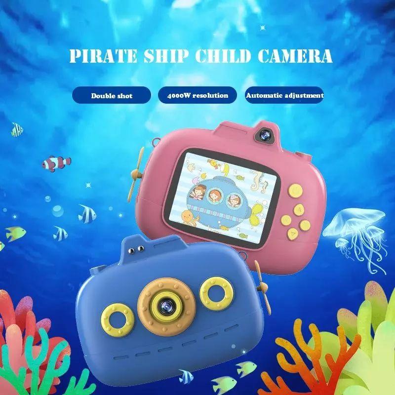 Çocuklar Video Kamera 1080 P Mini HD Dijital Karikatür Kaydedici Kamera Çift Lens Çocuklar Için Çift Lens 4000 W Piksel Doğum Günü Kız Erkek Oyuncak Hediye