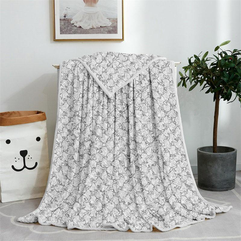 Fashion Designer Sofa Warm Blanket Vintage Style Autumn Winter Home Simple Personality Casual Blankets for Adult Kids
