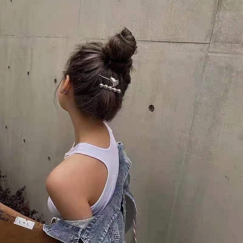 Acessórios de cabelo Metal Amor Redondo Bead Duckbill Hairpin Moda Estilo Temperamento Exquisite Design personalizado