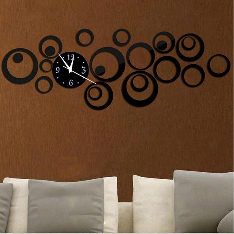 Sale 3d Wall Clock Watch Horloge Reloj De Pared Duvar Saati Acrylic Mirror Quartz Living Room Modern Clocks