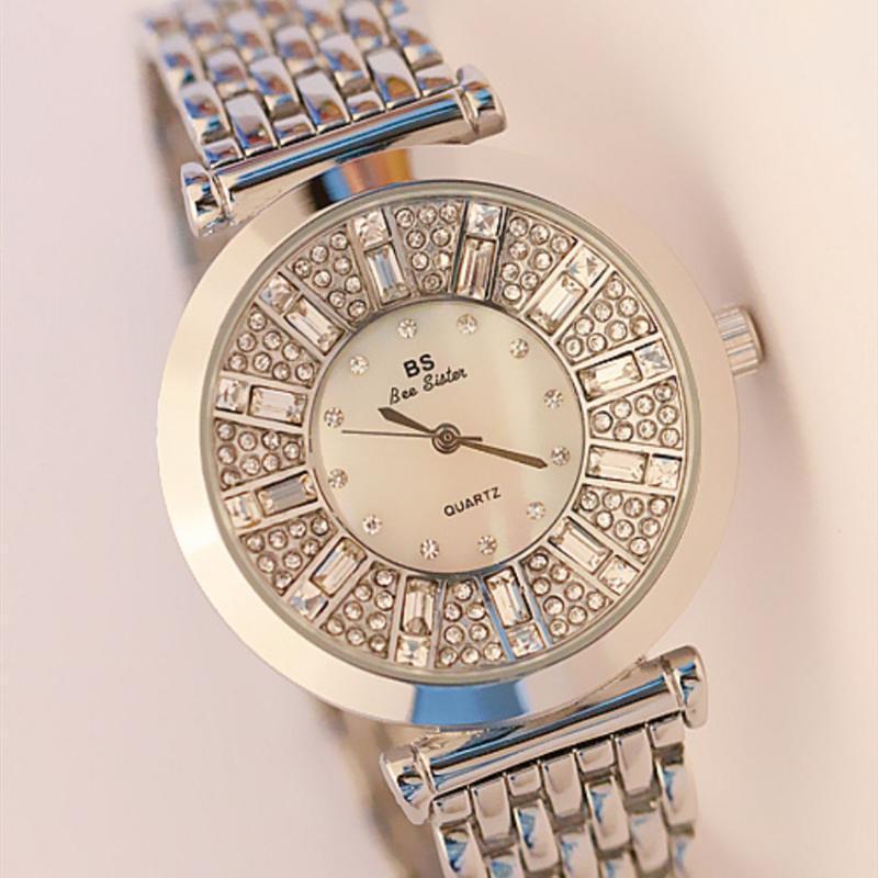 Wristwatches TOPS WOMEN WATCHES SELLING GOLD ROSE DIAMOND WRIST WATCH WATERPROOF GIFT LADIES CLOCK HOURS