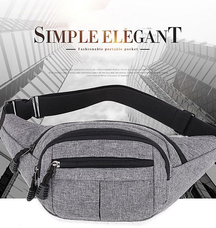 패션 스포츠 허리 가방 휴대 전화 가방 다기능 남자와 여성의 대용량 착용 방지 비즈니스 지갑