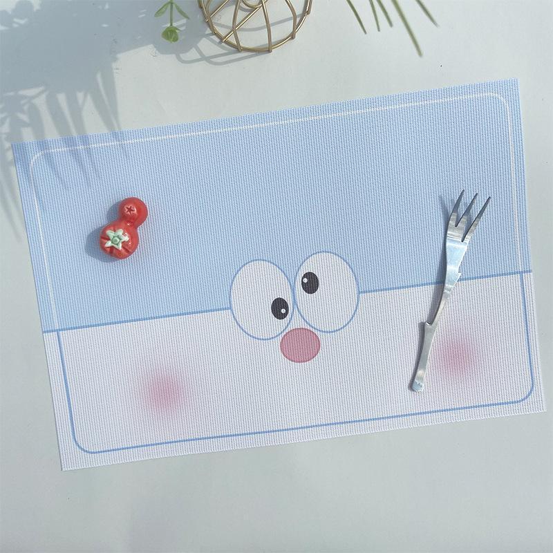 Mats Pads Crianças Placemat PVC Desenhos Animados Dinner Placa Esteira Japonesa Calor Isolamento Pad Ins Vento Pet Impressão Ocidental El Anti-escaldamento