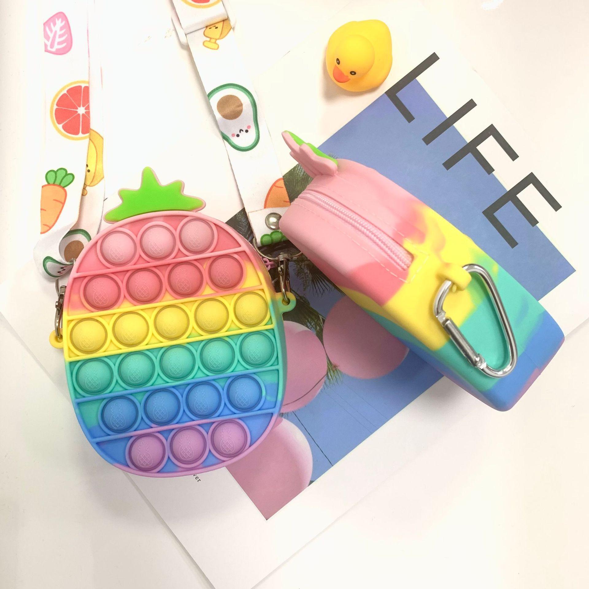 Mini Geld Geldbörse Fingertip Spielzeug Party Gunst Geschenke Push Blase Blase Anhänger Tasche Bleistiftkoffer Münze Geldbörse Erwachsene Zappeln Anti Stress Keychain