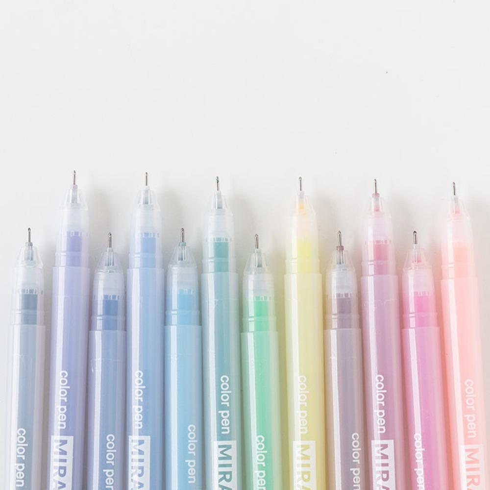 12 Color Gel Pens Student Creativity Kawaii Watercolor Pen Simple School Writing Supplies Stationery G-302