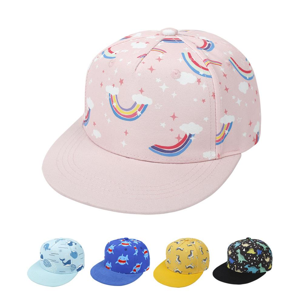 3 UNIDS NIÑOS Gorra de béisbol con 2-8Y Boys Girls Hip-Hop Ball Hat Historieta Imprimir Sun Sombreros Sombreros Ajuste Visor Caps Niños Boutique Accesorios