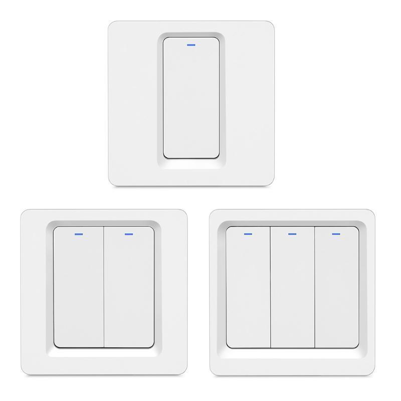 스마트 홈 컨트롤 R58C 패널 스위치 단일 화재 벽 조명 터치 와이파이 앱