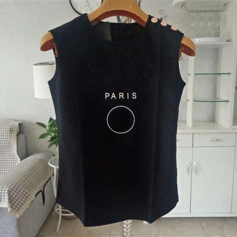 Frauen Kleidung Tank Top Womens Designer T-Shirt Schwarz Weiß Sommer Kurzarm Damen Kleidung Größe S-L