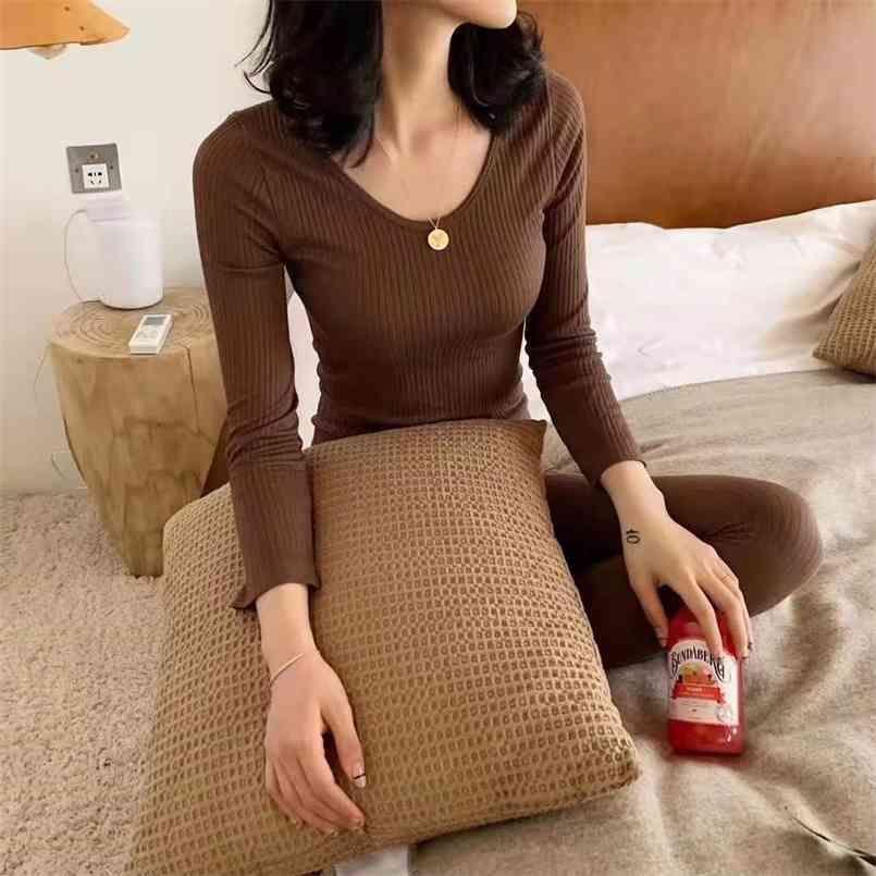 가을 얇은 잠옷 세트 여성 잠옷 가정 의류 코튼 파자마 홈웨어 여성 세트 봄 바지 나이트웨어 210423