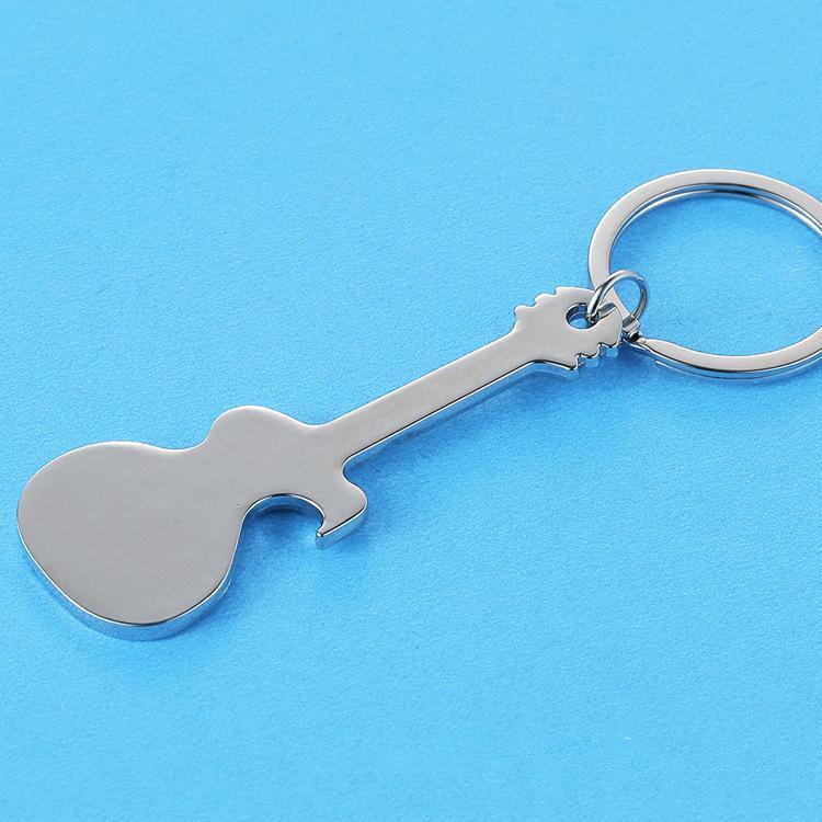 Keychain Smooth Guitar Keychain Kreative Musik Flaschenöffner Metall Anhänger Persönlichkeit Mode Geschenk