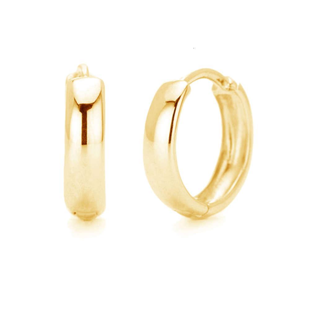 Minimalistische Schmuck Whole 18k Gold Vermeil Huggi 925 Sterling Sier Mutige Reifen Ohrringe für Frauen