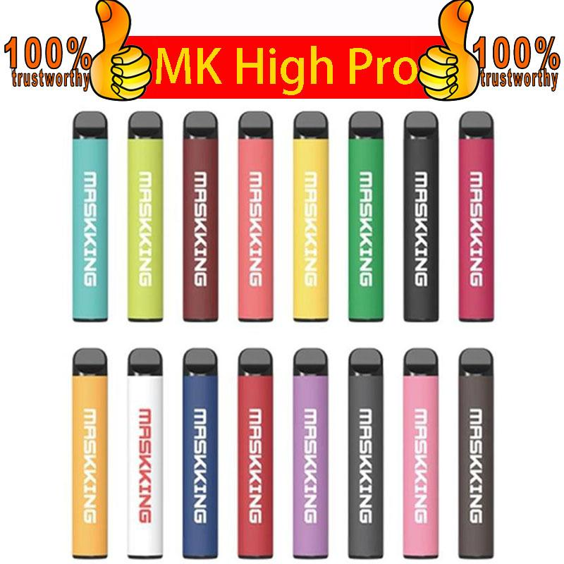 Maskking High Pro 일회용 vape 펜 포드 디바이스 담배 키트 로컬 MK 일회용 전자 담배 1000 퍼프 일회용 vape vs 퍼프 바