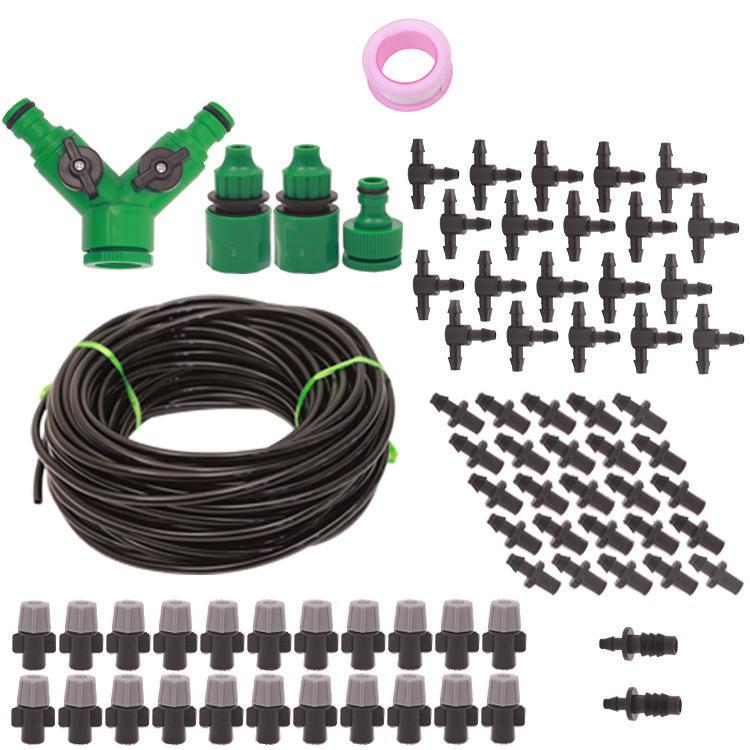 2021 High-quality home gardening 20m 20 sprinkler timing drip irrigation DIY set lazy flower watering tools Equipments Garden Supplies
