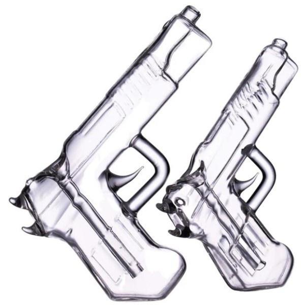 Pistola Bubbler mão segurou tubos de armas de vidro colorido fumar óleo queimador de óleo tubulação de água Bongs acessórios de erva