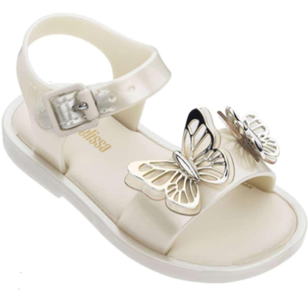 Sandales d'été pour enfants Sandales d'été Filles Butterfly Beach Fuite de la plage Mini Melissa Jelly Sho