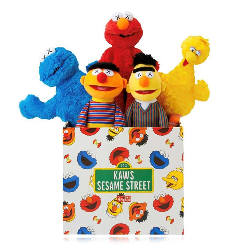 Yeni 32 cm ve 55 cm Originalfake K A W S BFF SESAME SOĞUTMA 5 Modelleri Peluş Oyuncaklar Elmo / Büyük Kuş / Ernie / Canavar Dolması En İyi Kalite Harika Hediyeler Fo