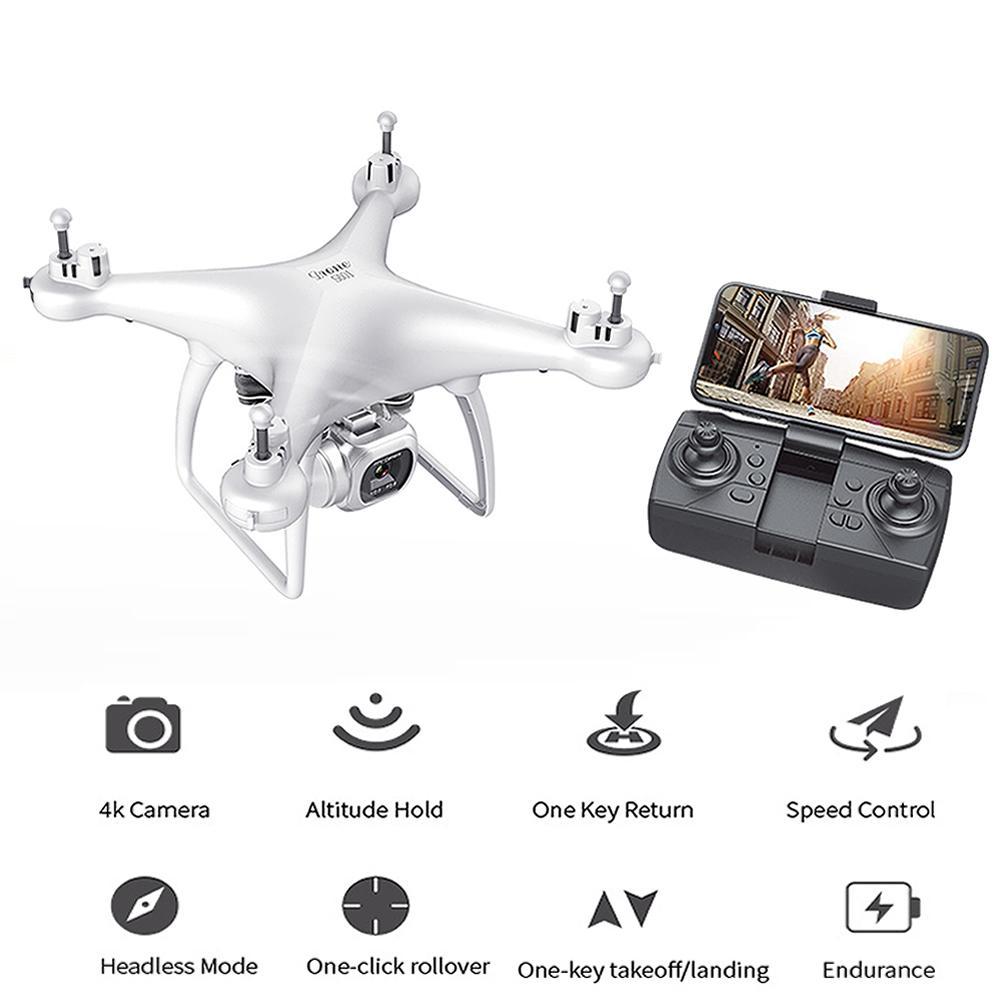 RC 무인 항공기 FPV 와이파이 공중 사진 UAV 4K HD 픽셀 카메라 원격 제어 4 축 Quadcopter 항공기 긴 수명 비행 장난감