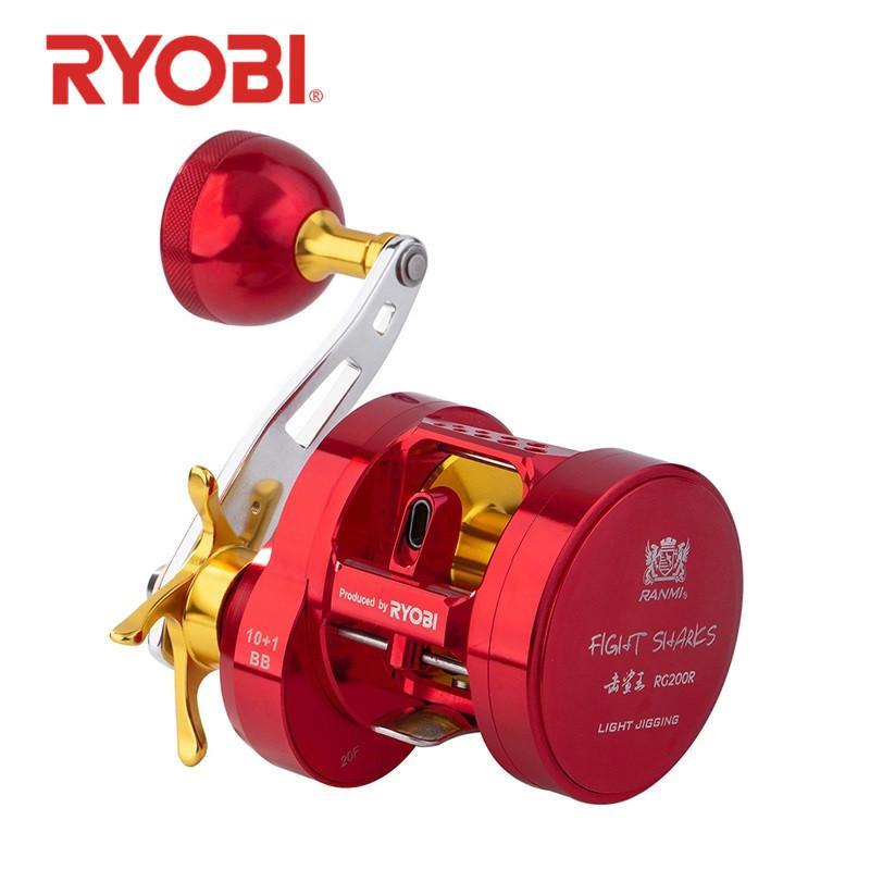Ryobi luta tubarão lento jigging bobinas max drag 15kg ratio de engrenagem7.0: 1 bobina de pesca de água salgada trolling pesca l0331