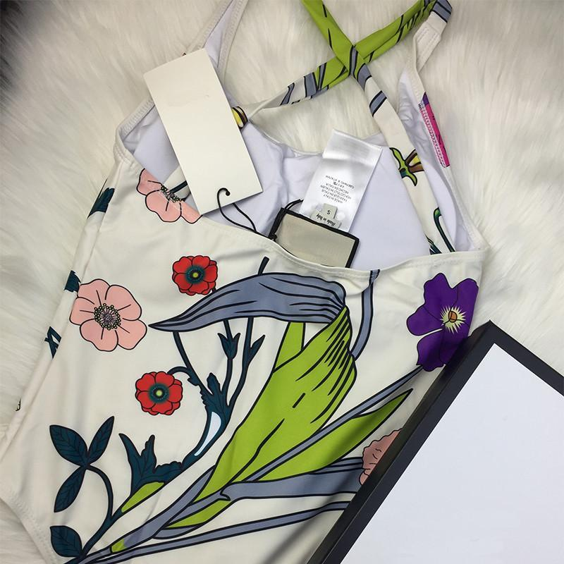 Fashion 2021 Simple Soft Swimsuits One Piece Beach Suit Flower Wear Printing Swimwear Letter Printed Bikini