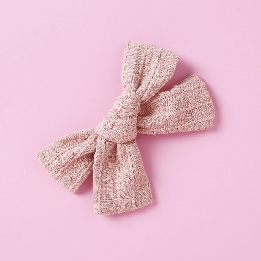 Accessoires pour enfants pour enfants Europe et États-Unis Tissu tricoté bébé 1 Bowknot Hairband Headwear Belle -A