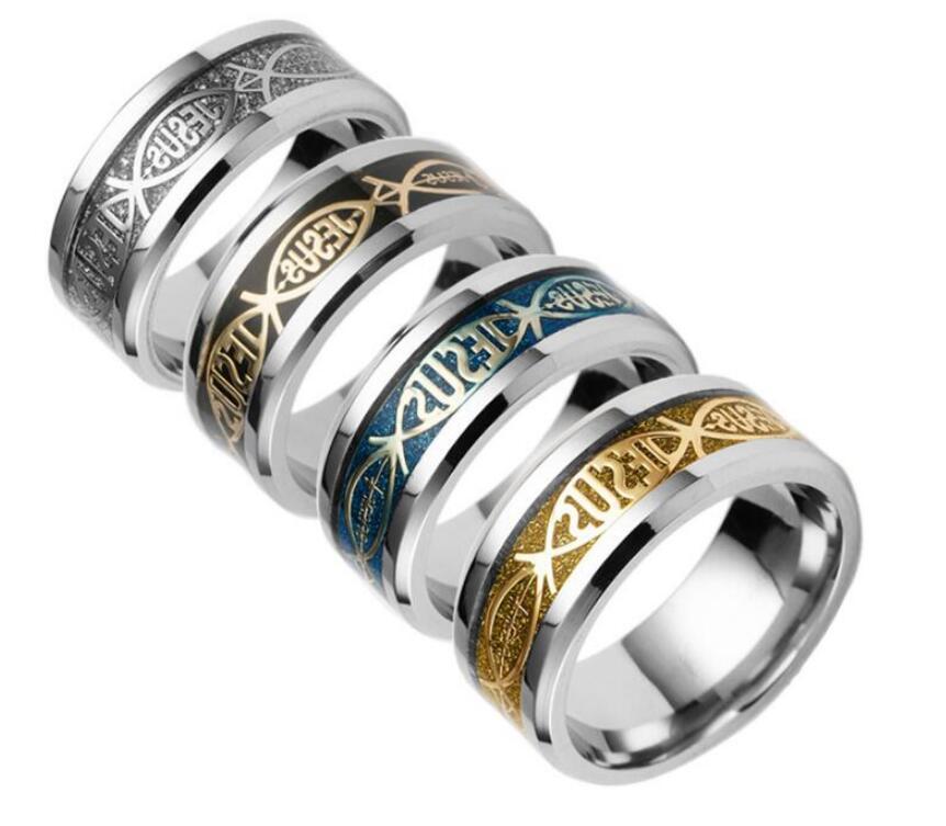 Titan Stahl Christian Jesus Ring Fingerring Nagel Ringe Silber Gold Band Ringe Für Frauen Männer Belieben Inspired Jewelry Drop Ship PS1688