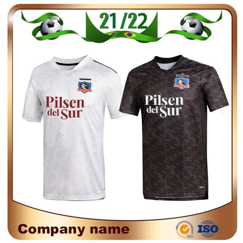 21/22 Colo Colo Futebol Jerseys 2021 Clube Social Maillots de Foot Shell Kit Away Black Camiseta Futebol Uniforme