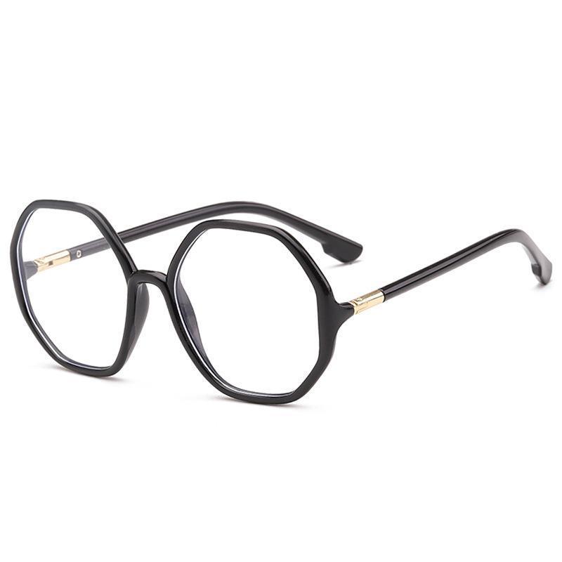 أزياء النظارات الشمسية إطارات viodream المثمن مضلع النظارات البصرية إطار الضوء الأزرق حظر وصفة oculos دي غراو