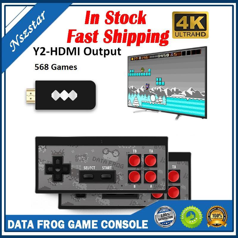 منصات الألعاب ضفدع البيانات USB اللاسلكية المحمولة لعبة فيديو لاعب 568 AV 600 الرجعية الألعاب الكلاسيكية المحمولة الترفيه المقود