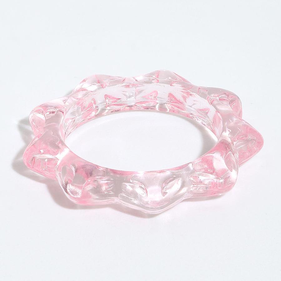 Форма прозрачный цвет ромб смолы кольца кольца тренд версия простой ретро холодный стиль акриловая личность индивидуальность хип хмель креативное костяное кольцо ювелирных изделий подарок